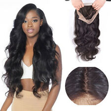 Lace Front Wigs 100% Brazilian Human Hair Virgin Soft Long Straight For Ladies