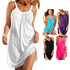 Women's Summer Beach Evening Party Cocktail Summer Mini Short Sundress Dress