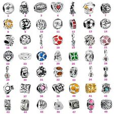 Fashion Jewelry Silver Charms Bead For 3mm European 925 Sterling Bracelet Chain
