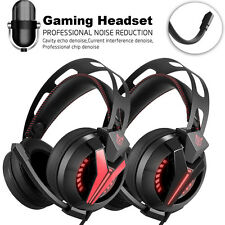 Over Ear Stereo Bass Gaming Headphone Gaming Headset With Noise Isolation Mic