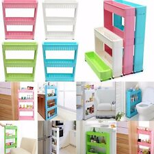 New Moving Rack Kitchen Storage Shelf Wall Cabinets Bedroom  Bathroom Organizer