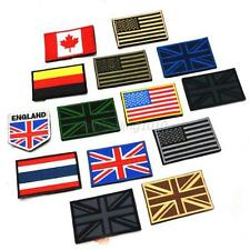 National Nation World Country Emblem Trim Flag Embroidered Sew On Patch Badge