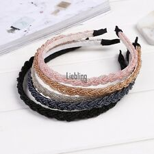 New Womens Fashion Twisted Beads Headband Hair Band Head Piece Hair Hoop LEBB