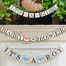 Its A Boy /Girl Baby Shower Party Bunting Garland Party Hanging Banner Decor**