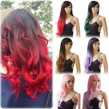 """19-28"""" Women Full Wig Long Straight Curly Wave Straight Hair For Daily Cosplay"""