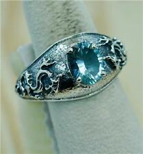 VINTAGE STYLE DRAGON DESIGN ALEXANDRITE JUNE BIRTHSTONE 925 SILVER RING #0109
