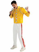 Freddie Mercury Deluxe Yellow Queen Wembley1980s Rock Deluxe Men Costume