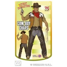 Cowboy Chaps Brown Leatherlook for Wild West Fancy Dress