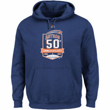 Houston Astros Majestic 50th Anniversary Fleece Pullover Hoodie - Navy - MLB