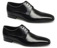Paco Milan Mens Leather Reptile Gibson Lace Up Square Comfy Formal Wedding Shoes