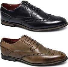 Giovanni Mens Faux Leather Brogue Comfy 5 Eye Lace-Up Funky Formal Evening Shoes