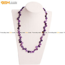 Natural Fashion Womens Assorted Shape Amethyst Gemstone Jewelry Gift Necklace