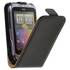 Artificial Leather Case for HTC Wildfire S - Flip-Case  + protective foils