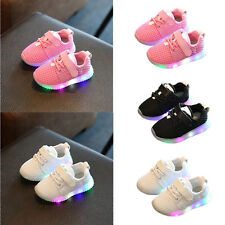 Kids Boys Girls Shoes LED Light Up Luminous Sport Trainers Flash Casual Sneakers