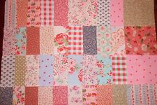 50 patchwork quilting squares 100% cotton includs Cath Kidston & Laura Ashley