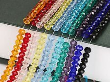 72pcs 8X10mm Faceted Rondelle Bead Crystal Glass Beads Color for Choice
