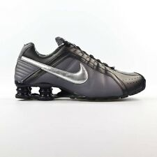 Nike Shox Junior Womens Size 9 Running Shoes Black Silver 454339 020 USED