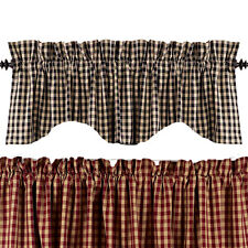 Heritage House Check Scalloped Valance