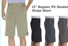 Dickies Mens 13-inch Regular-Fit Shadow Stripe Short, Multi-Use Work Shorts