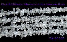 Wholesale Beads Natural Rock Crystal Clear Quartz Chip Nugget Loose Beads 3x8mm