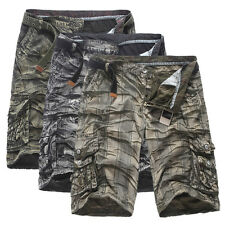 Mens Fashion Military Army Cargo Camo Combat Work Shorts Cargo Pants Trousers