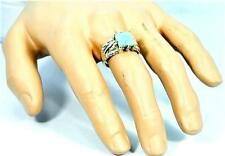 DRAGON CLAW DESIGN RARE LARIMAR  925 STERLING SILVER MENS RING #0105