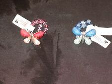 Beautiful Butterfly Crystal Jewelry Beaded Stretch Ring Glittery NEW!