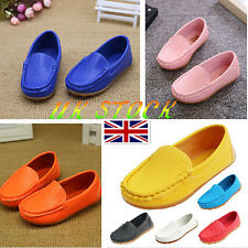 Girls Boy Child Kids Casual Shoes Flat Shallow Slip-on  Soft Loafers Size 5-13.5