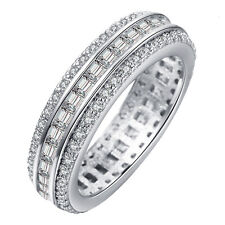 18kt White Gold Filled White Sapphire CZ Wedding Engagement Ring Size 7-10
