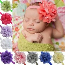 Newborn Baby Girls Lace Flower Headband Hair Bow Band Accessories Photo Gift