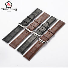 12 14 16 18 19 20 21 22 23mm Genuine Cow Leather Wrist Watch Band Strap Timeking