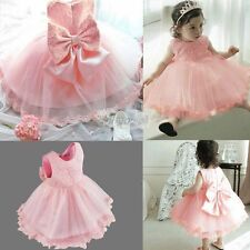 Infant Girls Baby Dress Lace Wedding Pageant Party Birthday Baptism Tutu Dresses
