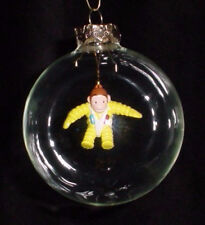 CURIOUS GEORGE SPACE SUIT HAND made BLOWN GLASS Christmas GIFT HOLIDAY ORNAMENT