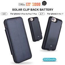 Portable Solar Power Battery Charger Case Cover Power Bank For iPhone 6 7 7 Plus