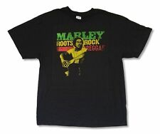 Bob Marley Roots, Rock, Reggae Black T Shirt New Official Adult