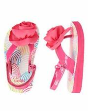 NWT Gymbmoree Girls Toddler Seashell Rosette Pink Sandals Size 3-4 5-6 & 7-8