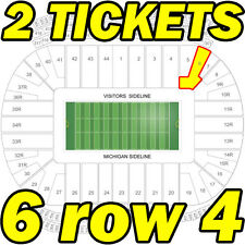 2 TIX, 6TH ROW: MI State Spartans @ Michigan Wolverines FOOTBALL 10/07 6row4