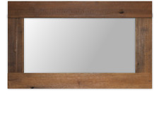 recycle hardwood rustic aged timber wooden framed frame mirror large