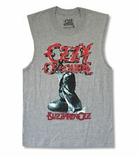 Ozzy Osbourne Blizzard Of Ozz Heather Grey Muscle Shirt New Official Adult