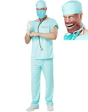 Doctor Bloodbath Surgeon Zombie Blue Scrubs Adult Halloween Costume