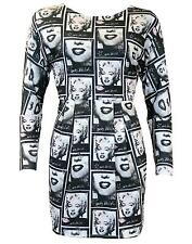 SALE! MARILYN MONROE ANDY WARHOL PEPE JEANS POP ART BODYCON DRESS Starship Z20