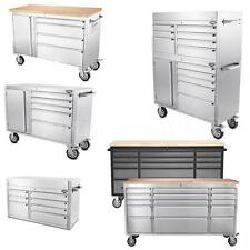 """41""""/48""""/72"""" Stainless Steel Rolling Tool Chest Tool Box Work Station Bench N7S9"""