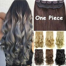 Women Ombre Full Head Clip In Hair Extension Real Thick as human Extensions fo7