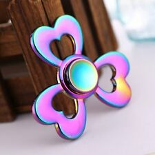 Heart Love Rainbow EDC Alloy Hand Finger Spinner Fidget Stress Reliever Gyro Toy