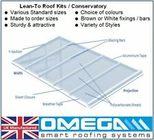 Lean To Roof Kit   Timber Supported  DIY -1.5m Projection, Polycarbonate 10-25mm