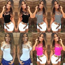 Summer Fashion Sexy Hollow Out Tank Tops Vest Strappy Party Club Wear Blouse Top