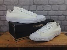 CONVERSE WHITE LO OX MONO ALL STAR CANVAS TRAINERS *WHITE EYELETS* MENS LADIES