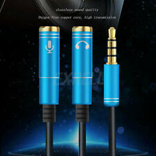 2 in 1 3.5mm Audio Splitter Headphone Adapter with mic for Computer phones New