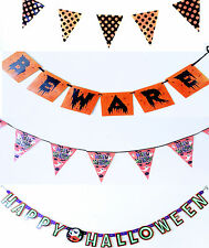 Halloween Bunting Flag Pennant Banners Banner Party Supplies Decorations