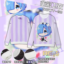 Re:Life in a different world from zero Hoodie Coat Sweatshirt Anime Long Sleeve